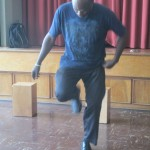 Next, Camilo demonstrates the zapateo, an Afro-Peruvian tap dance
