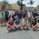 Gathered on the Plaza de Armas