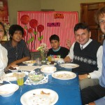 With (from left) Jessica, Sandro, Andres Eduardo and Ruben