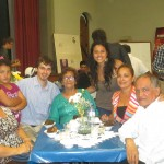 From right:  Juan, Krizian, Esther, several aunts and host sister Daniela