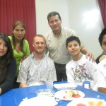 With (from left) Sharon, Marina, Paco, Leonardo and Harold