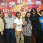 The language instructor group:  Irene, the lead instructor (center), Moises and his wife (left), Bivi, the writer and director of the play (center right) and Ana and her son