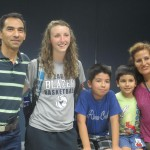 With her host family, Carlos, Daniel, Esteban and Patty