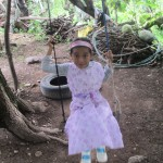 Melani on her swing