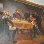 Painting depicting the signing of the Armistice Agreement between Spain and the emerging governments of South America