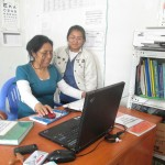 Raquel (left) directs the San Melchor Clinic