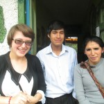 With the school's new administrator, Luis, and the teacher she assists, Carina