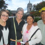 With one of the directors and an older Peruvian couple who shared their story about life during the time of terrorism