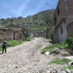 Cuchipampa is a humble neighborhood perched on a steep hillside above Huamanga