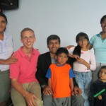 With his host family (from left):  Grandma, Juan Samuel, Caleb, Eunice, Yovana and Anahi