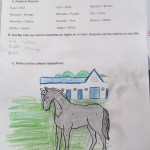 Another worksheet gives the students a chance to learn the English names for each color