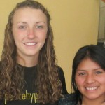 Cortney with a member of the Casa Luz staff