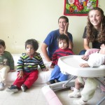 Edgar and Cortney spend their mornings with the youngest residents of Casa Luz