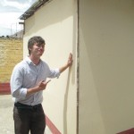 Isaac helped with the construction of this new classroom