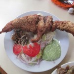 Fried cuy (guinea pig)