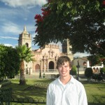 In th Park -- Ayacucho's principal cathedral is in the background