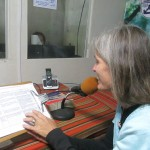 Jane steps into the booth at a local Christian radio station that broadcasts from the orphanage complex to give our greetings to an SST student, Martin, whose family listens to this station while in their kitchen each afternoon