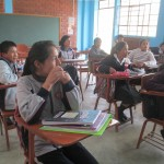 The students are eager to learn English from a North American