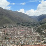 This city of 60,000 inhabitants is nestled into a narrow valley high in the Andes -- elevation 3,053 meters (a little over 10,000 feet)