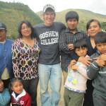 Andrew's extended host family (from left):  Grandma, brother Mauricio, sister Nuria, mother Miriam, brother Bruno, nephew Franco, aunt Marisol and nephew Joaquin