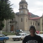 In front of the Cathedral in central Tarma