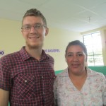 Phil with Alicia, the newly-appointed director of San Manuelito School