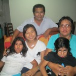 Her host family (from left): Almendra, Luis Alberto, Camila and Rosa