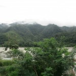 The view of the Chanchamayo River outside the production plant