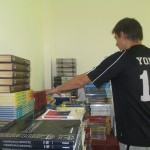 Jacob and Joe have been assigned the task of organizing the 3,000 books donated recently