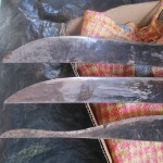 The machete at the bottom is practically a family heirloom -- it is almost worn through by constant use