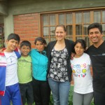 With her host family (from left): Ivan, Andres, Noemi, Leslie and Julio