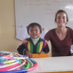 In the classroom with one of the three-year-old boys