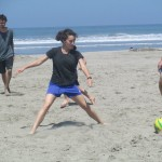 ... it's time for a little beach soccer ...