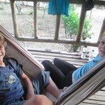 Jordan and Teresa share a hammock