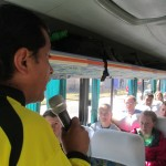 On the bus with our guide, Oswaldo
