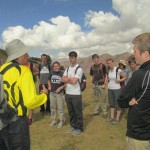 Oswaldo introduces the students to the site