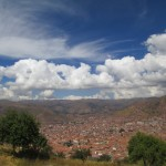 View of the city of Cusco below