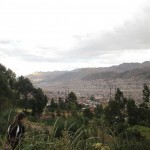 The city of Cusco comes into sight