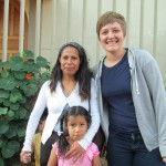 With her host mother, Marina, and sister, Ruth, in Huacarpay