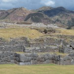 Sacsayhuaman is characterized by a jagged, linear shape -- many say it is shaped as a thunderbolt