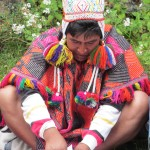 Along the way -- a curandero (shaman) offers a pago (payment) to Pachamama (mother earth)