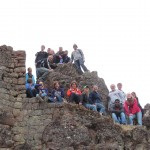 Gathered at the Pisac archaeological site
