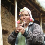 This native flute player entertained us along part of the route