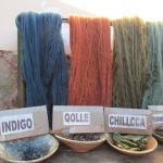 The wool is colored with plant- and mineral-based dyes