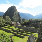 View of the courtyard, with Huayna Picchu (Young Peak) in the background