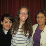 With her host sister Lisette (left) and mother Clara (right)