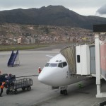 Peruvian Airlines Flight #220 arrives in Cusco