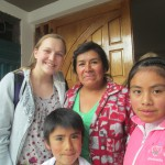 With host family members, Leonarda (center), Johan (below) and Nayeli (right)