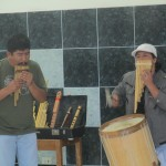 Mauro Claros Chatas (left) and Amaru Megia Suniga introduce us to Andean music
