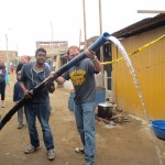 The residents of this 15-year old settlement don't have water or sewer pipes
